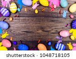 happy easter concept. colorful...   Shutterstock . vector #1048718105