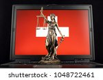 symbol of law and justice with... | Shutterstock . vector #1048722461