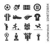 vector image set of soccer...   Shutterstock .eps vector #1048725854