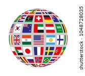 flat circle with flags of... | Shutterstock .eps vector #1048728035