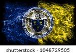 trenton city smoke flag  new... | Shutterstock . vector #1048729505