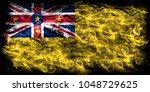 niue smoke flag  new zaeland... | Shutterstock . vector #1048729625