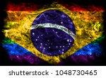 brazil gay smoke flag  brazil... | Shutterstock . vector #1048730465