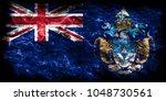 tristan da cunha smoke flag ... | Shutterstock . vector #1048730561