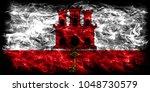 gibraltar smoke flag  british... | Shutterstock . vector #1048730579