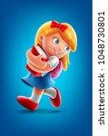 girl back to school | Shutterstock .eps vector #1048730801