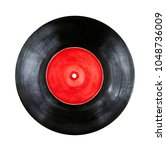 round vinyl record with red...   Shutterstock . vector #1048736009