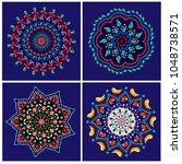 vector set illustrations of a... | Shutterstock .eps vector #1048738571