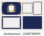 set of vector picture frame.... | Shutterstock .eps vector #1048738994