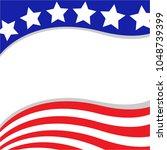 usa flag wave pattern patriotic ... | Shutterstock .eps vector #1048739399