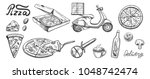 vector illustration of a pizza... | Shutterstock .eps vector #1048742474