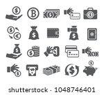 money icons set | Shutterstock .eps vector #1048746401