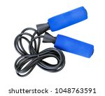 Blue Jump Rope Or Skipping Rop...