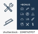 industrial icon set and paint...