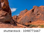 Massive Rock Formations In Red...