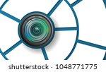 camera lens poster template... | Shutterstock .eps vector #1048771775