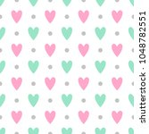 cute seamless vector pattern... | Shutterstock .eps vector #1048782551