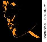 woman portrait silhouette in...   Shutterstock .eps vector #1048783094