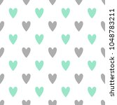 seamless cute vector pattern... | Shutterstock .eps vector #1048783211