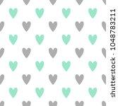 seamless cute vector pattern... | Shutterstock .eps vector #1048783211