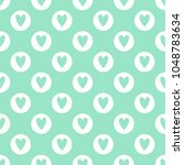 cute seamless vector pattern... | Shutterstock .eps vector #1048783634