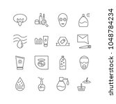 cosmetics icons set with 3d...
