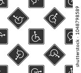 disabled handicap icon seamless ... | Shutterstock .eps vector #1048798589