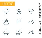 climate icons line style set...   Shutterstock .eps vector #1048801229
