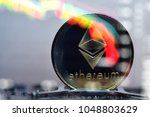 ethereum. crypto currency.... | Shutterstock . vector #1048803629