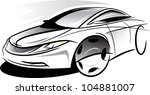 sketch car | Shutterstock .eps vector #104881007