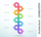 abstract vector 3d stacked 8...   Shutterstock .eps vector #1048814954