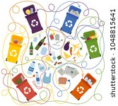 recycling maze for kids and... | Shutterstock .eps vector #1048815641