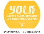 set of italic style alphabet... | Shutterstock .eps vector #1048818545
