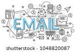 flat colorful design concept... | Shutterstock .eps vector #1048820087
