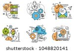 set of outline icons of support.... | Shutterstock .eps vector #1048820141