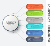 six elements with thin line...   Shutterstock .eps vector #1048828409