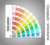 color palette guide on grey... | Shutterstock .eps vector #104883311