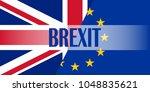 brexit blue european union eu... | Shutterstock .eps vector #1048835621