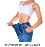 Weight Loss Woman Isolated On ...
