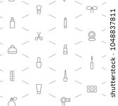seamless make up icons pattern... | Shutterstock .eps vector #1048837811