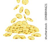 Realistic Gold Coin Stack On...