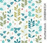 vector floral seamless pattern. ... | Shutterstock .eps vector #1048846514