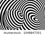 black white 3d line distortion... | Shutterstock .eps vector #1048847351