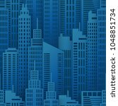 seamless urban background.... | Shutterstock .eps vector #1048851734