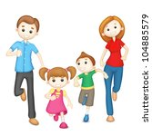 illustration of 3d family in... | Shutterstock .eps vector #104885579