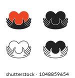 four concept charity logo... | Shutterstock .eps vector #1048859654