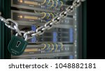 servers and hardware room... | Shutterstock . vector #1048882181