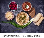 traditional russian food.... | Shutterstock . vector #1048891451