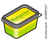 a plastic tub of margarine with ... | Shutterstock .eps vector #104889167