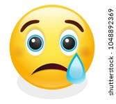 cry tear expression emoji...   Shutterstock .eps vector #1048892369